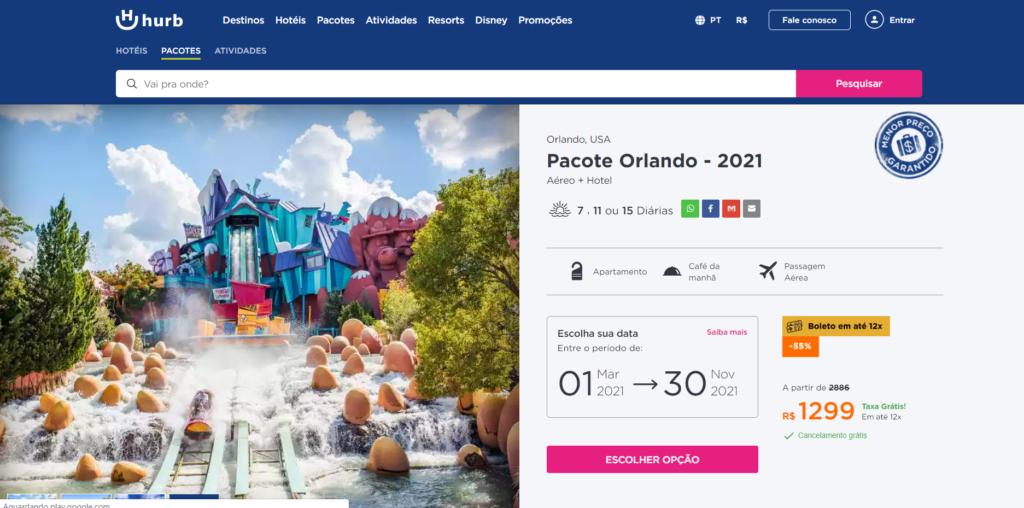 Orlando por R$ 1299   7 dias em 2021 pra conhecer a Disney com hotel e Aéreo!